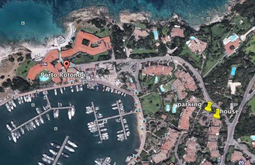 A bird's-eye view of I Tramonti Apartments