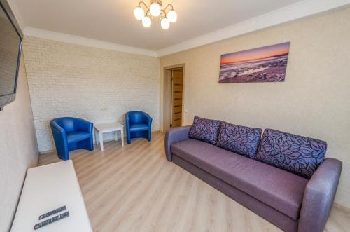 Posezení v ubytování Apartment on 16А Obolonskyi Avenue