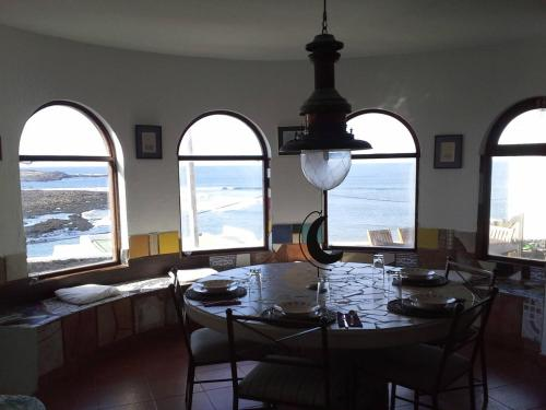 A restaurant or other place to eat at Feel like a lighthouse
