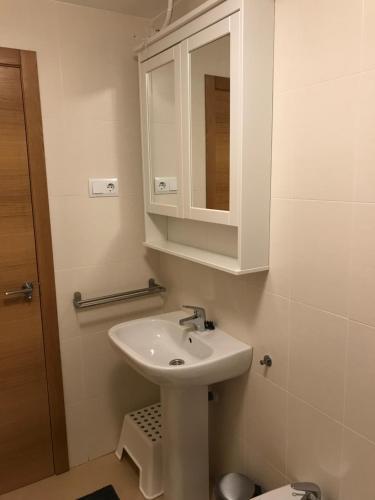 A bathroom at Apartment Equipo Nacional Maraton