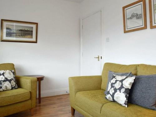A seating area at Emily's View, Wigton