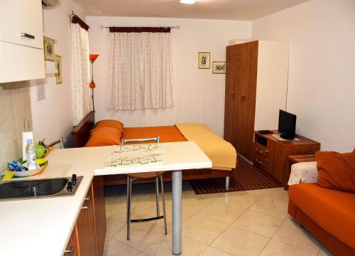 A seating area at Apartments Santa Croce Rovinj