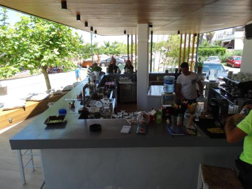 A restaurant or other place to eat at Hotel Rigakis