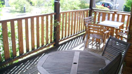 A balcony or terrace at Chalet Le Candy