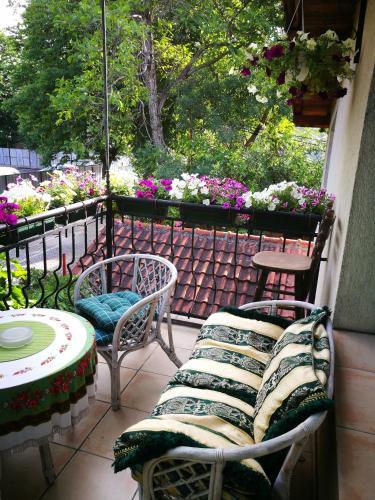 A balcony or terrace at Hotel Paradise