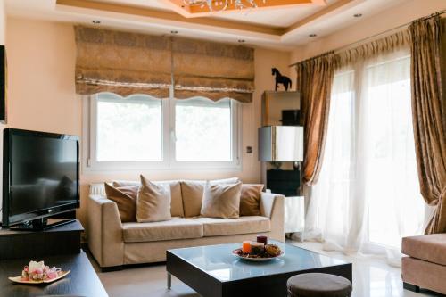Зона вітальні в Villa Polina