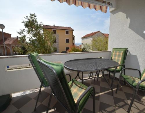 A balcony or terrace at Apartments Horvat