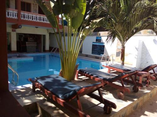 Der Swimmingpool an oder in der Nähe von The Bright Star Resort