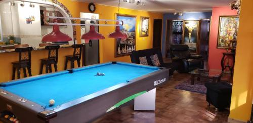 A pool table at Spacious Apartment in the Heart of Medellin