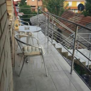 Un balcon sau o terasă la Apartman Lea