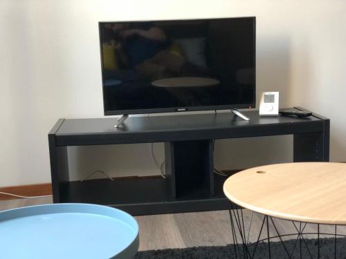 Télévision ou salle de divertissement dans l'établissement Appartement St Timothée