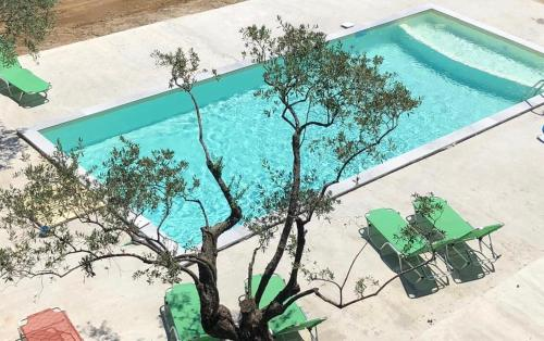 A view of the pool at Hotel Irini or nearby