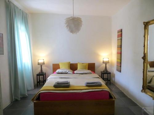 A bed or beds in a room at alhaja del cerro blanco