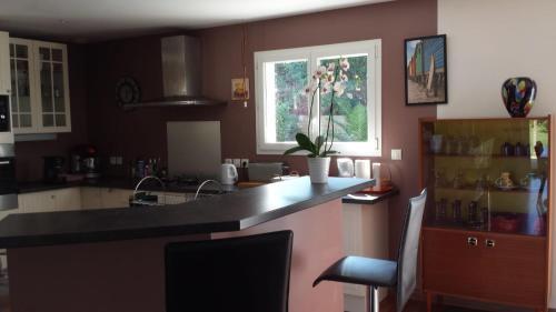 Cuisine ou kitchenette dans l'établissement Ma Maison Familiale Portesienne