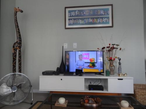 A television and/or entertainment center at LOFT aconchegante e agradavel
