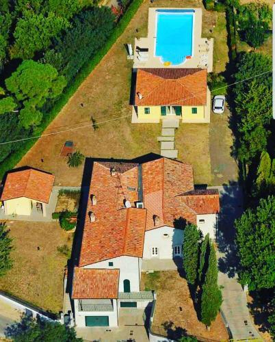 Vista aerea di Villa Casetti