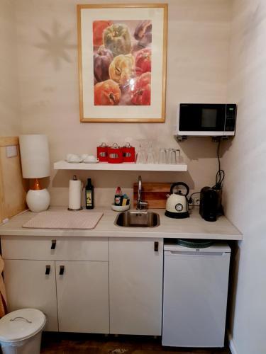 Küche/Küchenzeile in der Unterkunft Studio City West