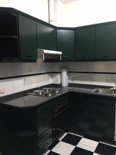 A kitchen or kitchenette at Luxury flat in Santiago