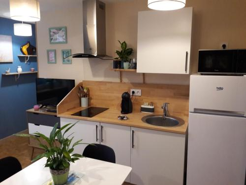 A kitchen or kitchenette at Le Watson