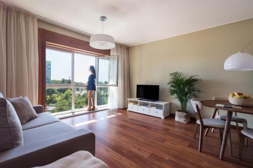 A seating area at Porto Escape Apartment