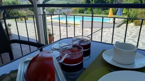 A view of the pool at Casa de Santo Antonio or nearby