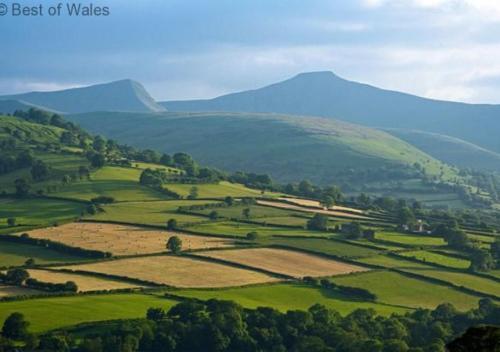 A bird's-eye view of Ysgubor y Mynydd