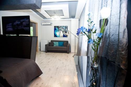 The lobby or reception area at Kvart-Hotel Promenade