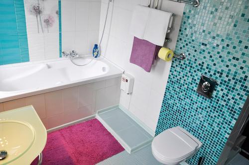 Koupelna v ubytování Studio on Krasnaya Presnya