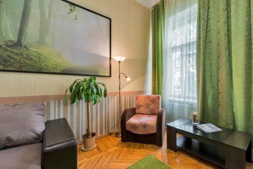 Гостиная зона в Bolshaya Morskaya 56 Apartment
