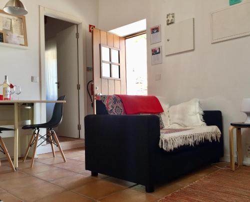 A seating area at Casa da Pedra