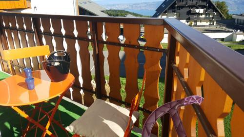 Balcon ou terrasse dans l'établissement Le Telemark