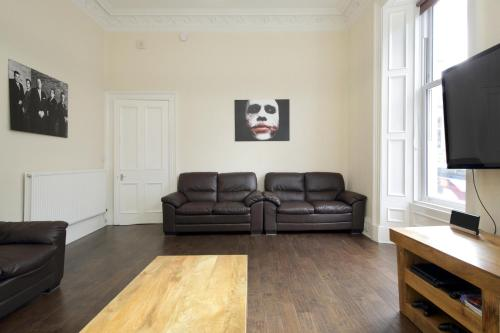 A seating area at The Lothian Road Apartment