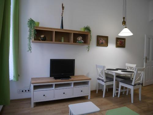 A television and/or entertainment center at Moskevská 40