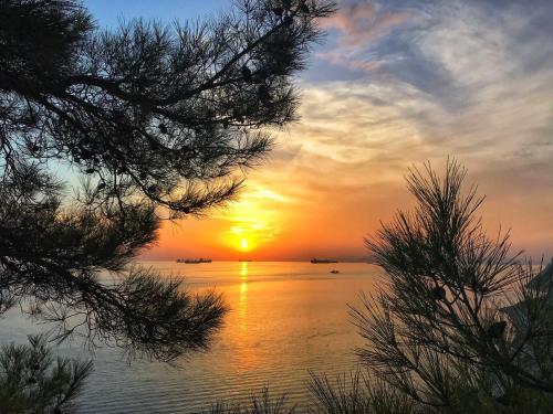 Вид на восход или закат из апарт-отеля или места поблизости