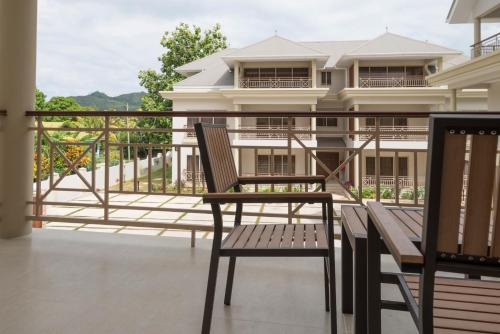 A balcony or terrace at Sahaj Holiday Apartments