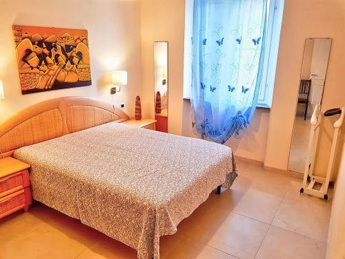 A bed or beds in a room at Pian di Rocca Villa Sleeps 6 Air Con WiFi