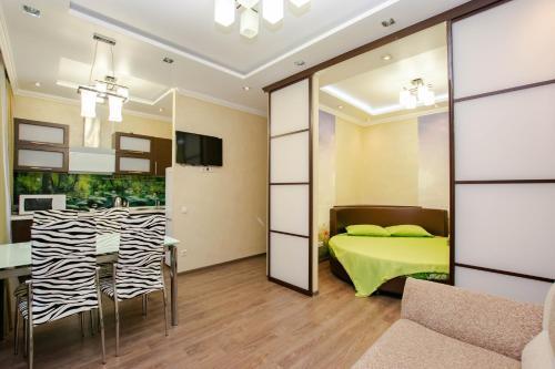 Гостиная зона в Уютная квартира в центре