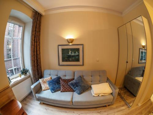 A seating area at Apartament Vanilla Sky Wroclaw