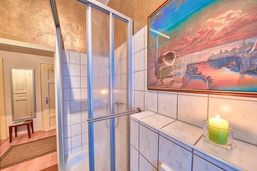 A bathroom at Apartment Fichtenstrasse