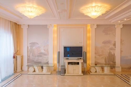 A television and/or entertainment center at VIP Apartment on the sea coast