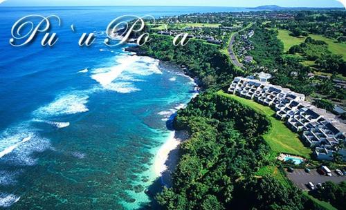 Άποψη από ψηλά του Luxury Puu Poa Condo #304
