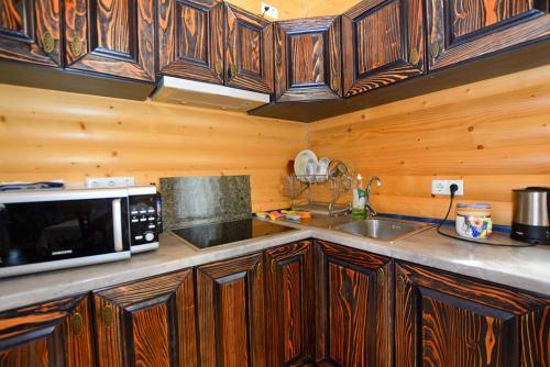 A kitchen or kitchenette at Villa Oleksy
