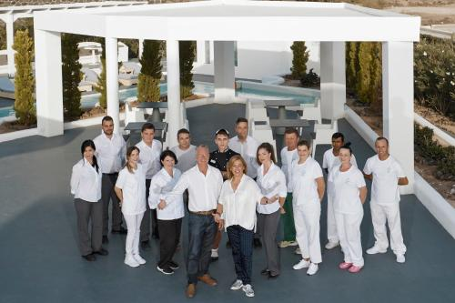 Staff members at Santorini Princess Presidential Suites