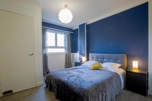 Un ou plusieurs lits dans un hébergement de l'établissement Luckey Homes - Rue des Teinturiers