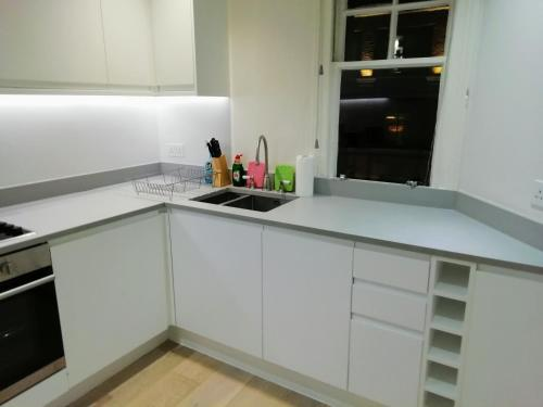 A kitchen or kitchenette at SOHO DESIGNER APARTMENTS, SHAFTESBURY AVENUE