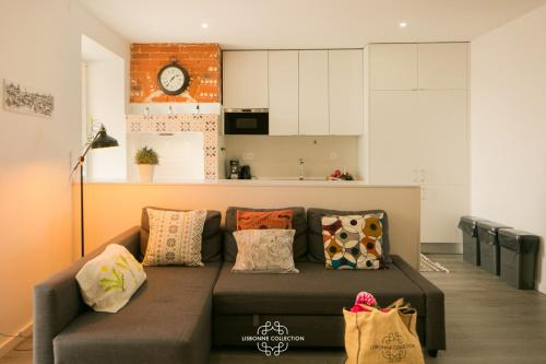 O zonă de relaxare la Penha de França Trendy Duplex with terrace 74 by Lisbonne Collection