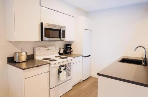 A kitchen or kitchenette at Whistler Placid apartment