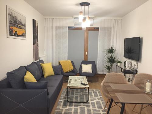 Area tempat duduk di Apartamenty Bulwary Książęce