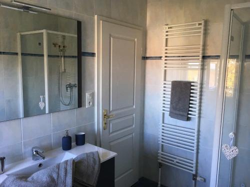 Salle de bains dans l'établissement Votre location aux pieds des Vosges