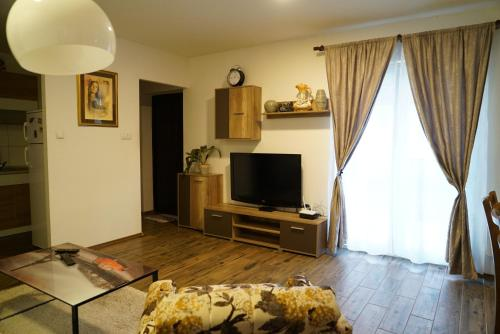 A television and/or entertainment center at RS Apartmani